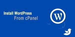 Install WordPress from cPanel