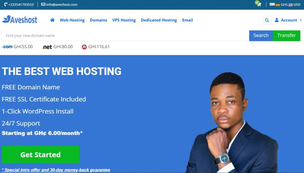 professional business website hosting package