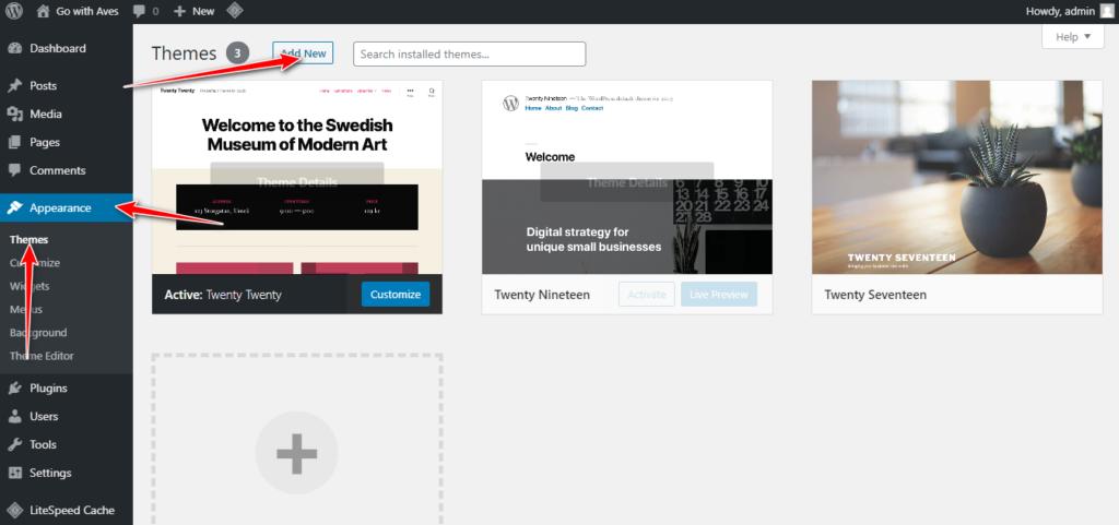 WordPress Appearance Theme